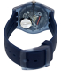 Swatch Men's Originals SUON700 Blue Silicone Quartz Watch - Back Image Swatch