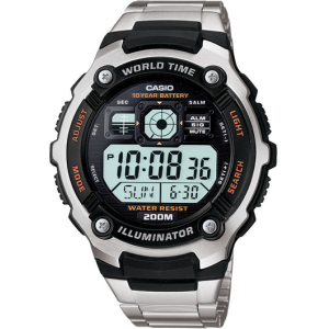 Casio Men's AE2000WD-1A Digital Stainless-Steel Quartz Watch