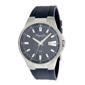 Kenneth Cole Men's KC1671 Blue Silicone Quartz Watch