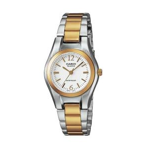 Casio Women's Core LTP1253SG-7A White Stainless-Steel Analog Quartz Watch