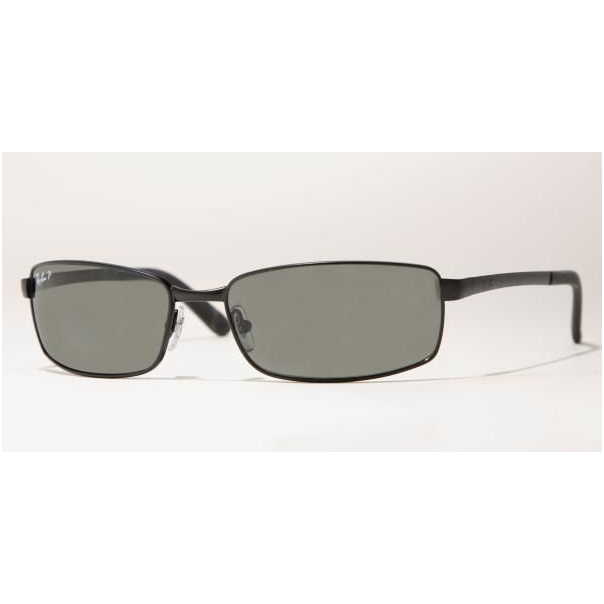 Ray ban men 39 s rb3194 006 58 black rectangle sunglasses for Area 604