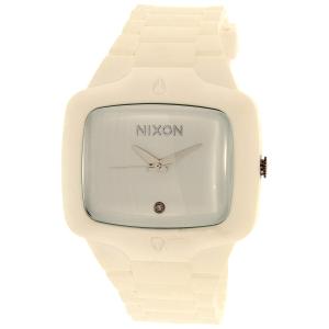 Nixon Men's Rubber Player A139100 White Silicone Quartz Watch