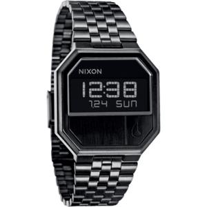 Nixon Men's Re-Run A158001 Black Stainless-Steel Quartz Watch