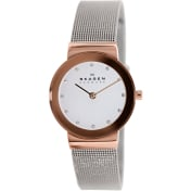 Skagen Women's Classic 358SRSC White Stainless-Steel Quartz Watch