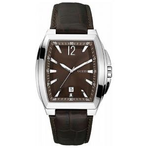 Guess Men's W90058G2 Brown Leather Analog Quartz Watch