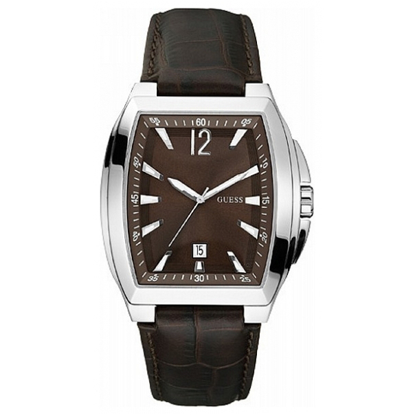 Guess Men's W90058G2 Brown Leather Analog Quartz Watch