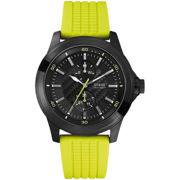 Guess Men's W95121G2 Black Silicone Quartz Watch