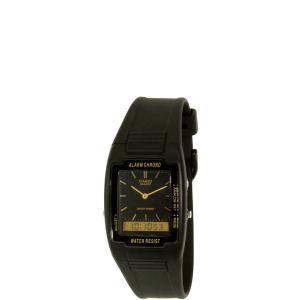 Casio Men's Classic AQ47-1E Black Rubber Quartz Watch