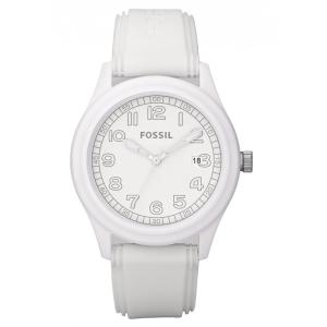 Fossil Men's JR1295 White Silicone Analog Quartz Watch