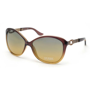 Guess Women's  GU7040-BRN-66 Brown Butterfly Sunglasses
