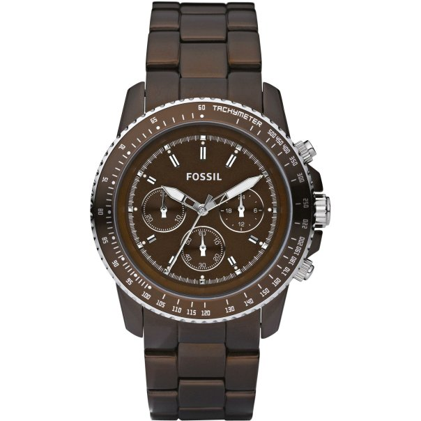 Fossil Women's Stella CH2746 Brown Aluminum Quartz Watch