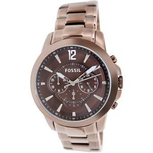 Fossil Men's Grant FS4608 Brown Stainless-Steel Analog Quartz Watch