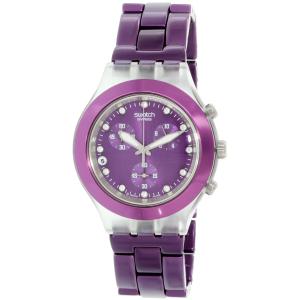 Swatch Women's Full Blooded SVCK4048AG Purple Aluminum Swiss Quartz Watch