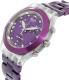 Swatch Women's Full Blooded SVCK4048AG Purple Aluminum Swiss Quartz Watch - Side Image Swatch