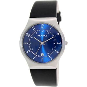 Skagen Men's Classic 233XXLSLN Black Leather Quartz Watch