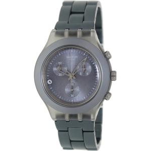 Swatch Men's SVCM4007AG Grey Stainless-Steel Swiss Quartz Watch