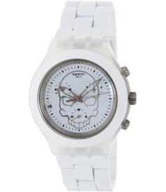 Swatch Men's Full Blooded SVCW4000AG White Aluminum Swiss Quartz Watch