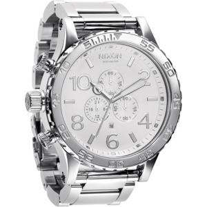 Nixon Men's 51-30 Chrono A083488 White Stainless-Steel Quartz Watch