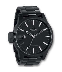 Nixon Men's Chronicle A1981028 Black Stainless-Steel Quartz Watch