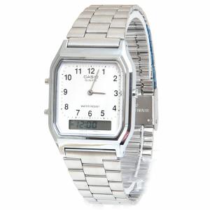 Casio Men's Core AQ230A-7B Silver Stainless-Steel Quartz Watch