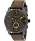 Fossil Men's Machine FS4656 Brown Leather Analog Quartz Watch - Main Image Swatch