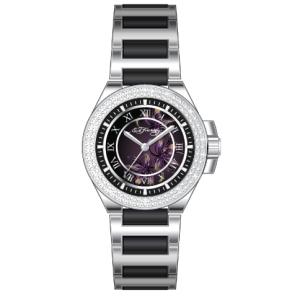 Ed Hardy Women's PR-FL Black Stainless-Steel Quartz Watch