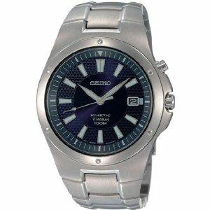 Seiko Men's SKA395 Blue Titanium Automatic Watch