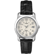 Timex Women's Elevated Classics T2N435 White Leather Quartz Watch