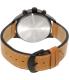 Timex Men's IQ T2N700 Brown Calf Skin Quartz Watch - Back Image Swatch
