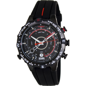 Timex Men's IQ T2N720 Black Silicone Quartz Watch