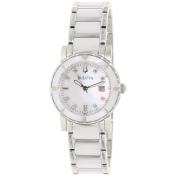 Bulova Women's Diamond 98P121 Mother-Of-Pearl Stainless-Steel Quartz Watch