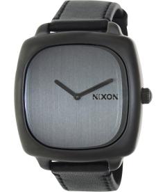 Nixon Women's Shutter A2861062 Grey Leather Quartz Watch