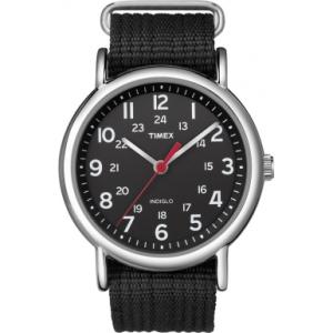 Timex Men's Weekender T2N647 Black Nylon Quartz Watch