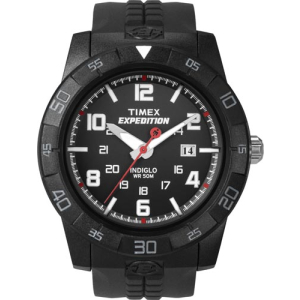 Timex Men's Expedition T49831 Black Resin Analog Quartz Watch