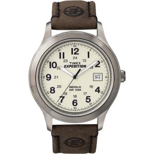 Timex Men's Expedition T49870 Brown Calf Skin Analog Quartz Watch