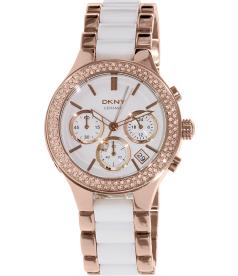 Dkny Women's Broadway NY8183 White Ceramic Quartz Watch
