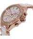 Dkny Women's Broadway NY8183 Rose Gold Ceramic Quartz Watch - Side Image Swatch