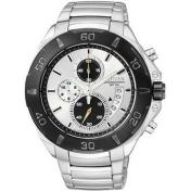 Citizen Men's Quartz Chronograph AN3401-55A Silver Stainless-Steel Quartz Watch