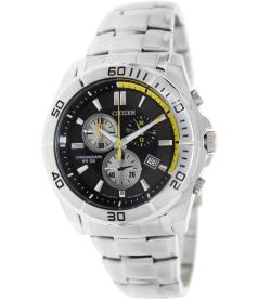 Citizen Men's Quartz Chronograph AN7100-50E Black Stainless-Steel Analog Quartz Watch