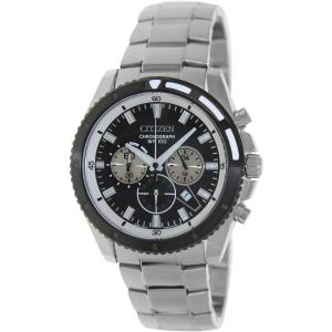Citizen Men's Quartz Chronograph AN8011-52E Silver Stainless-Steel Quartz Watch
