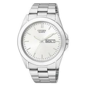 Citizen Men's Classic Quartz BF0580-57A Silver Stainless-Steel Quartz Watch