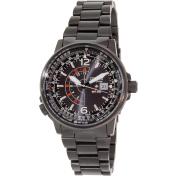 Citizen Men's Promaster Pilot 200M BJ7019-62E Black Stainless-Steel Analog Quartz Watch