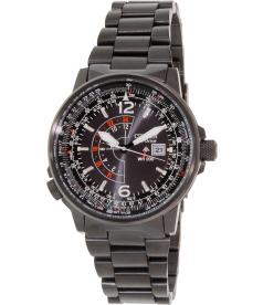 Citizen Men's Promaster Pilot 200M BJ7019-62E Black Stainless-Steel Eco-Drive Watch