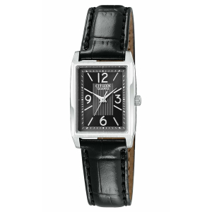 Citizen Women's Classic Quartz EJ6030-04E Black Leather Quartz Watch