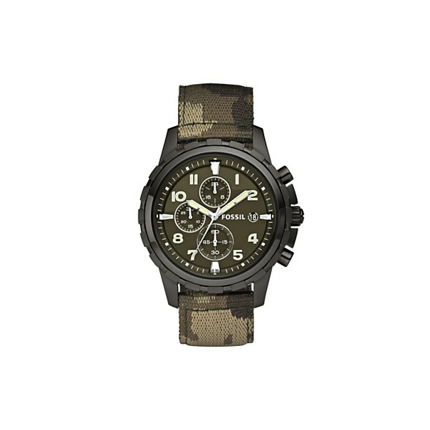 Fossil Men's FS4629 Green Nylon Quartz Watch