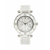 Guess Collection Women's G35003L1 Mother-Of-Pearl Ceramic Swiss Quartz Watch