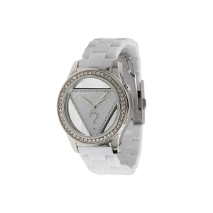 Guess Women's U95161L2 White Polyurethane Quartz Watch