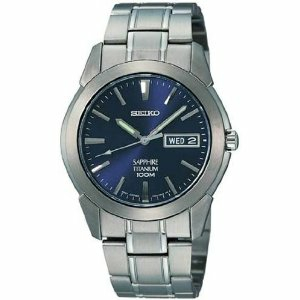Seiko Men's SGG729 Blue Titanium Quartz Watch