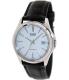 Casio Men's Core MTP1183E-7A White Leather Quartz Watch - Main Image Swatch