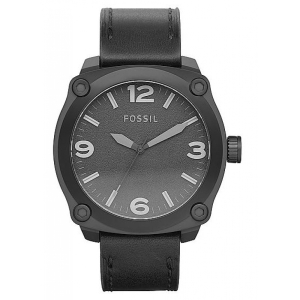 Fossil Men's Russell JR1338 Black Calf Skin Analog Quartz Watch